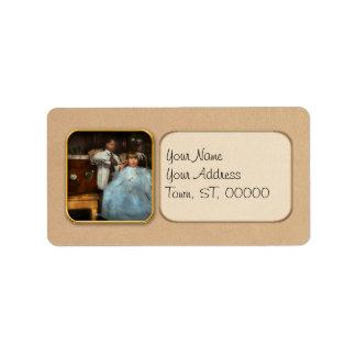 Barber - Portable music player 1921 Address Label