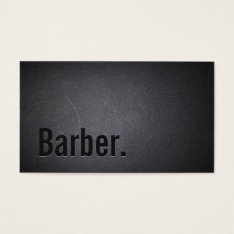 Barber Professional Black Minimalist Business Card at Zazzle