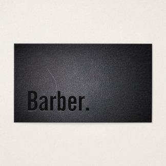 Barber Professional Black Minimalist Business Card