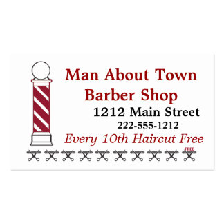 Barber Punch Card Customer Loyalty Business Card