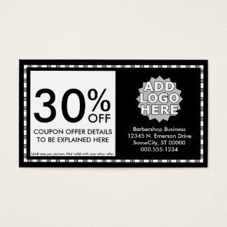 barber razor icons coupon card