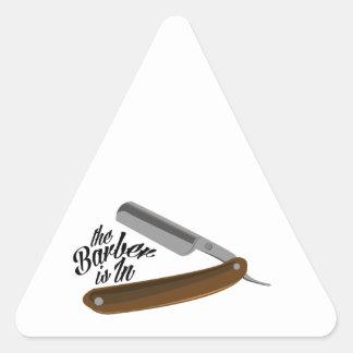Barber Razor Triangle Sticker