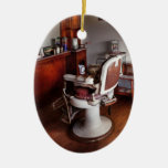 Barber - Ready for an Audience Double-Sided Oval Ceramic Christmas Ornament