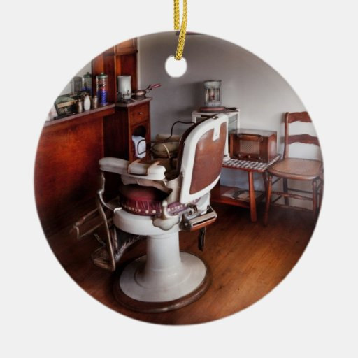 Barber - Ready for an Audience Double-Sided Ceramic Round Christmas Ornament