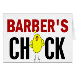Barber's Chick Greeting Cards
