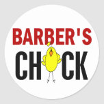 Barber's Chick Round Stickers