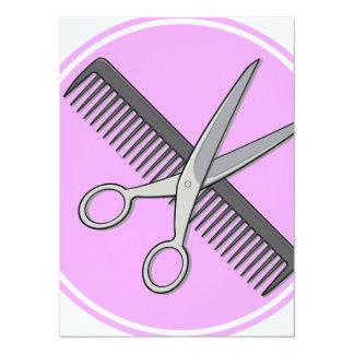 Barber Scissor and Comb Card