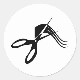 Barber Scissors - Hair Stylist Classic Round Sticker