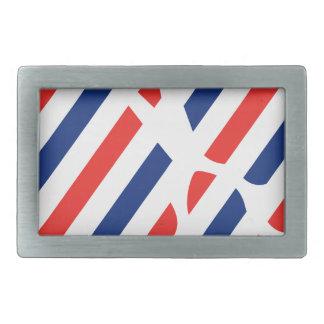 Barber Scissors Rectangular Belt Buckle