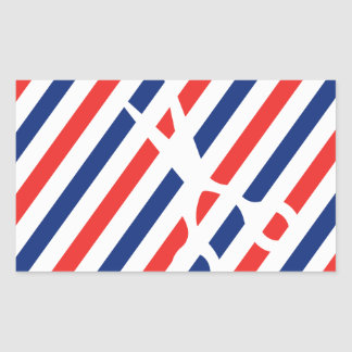 Barber Scissors Rectangular Sticker
