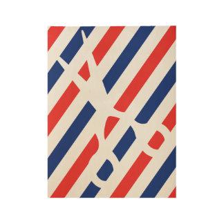 Barber Scissors Wood Poster