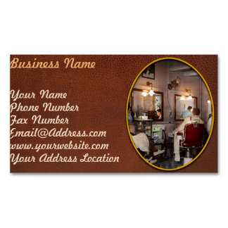 Barber - Senators-only barbershop 1937 Magnetic Business Card