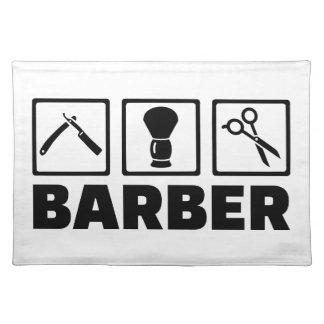 Barber set placemat