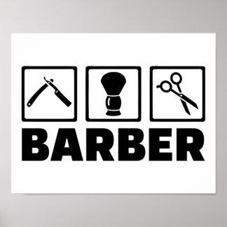 Barber set poster