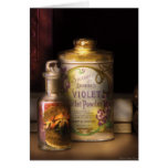 Barber -  Sharp & Dohme's Violet Toilet Powder Greeting Card