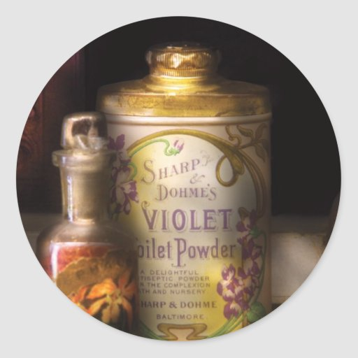 Barber -  Sharp & Dohme's Violet Toilet Powder Stickers
