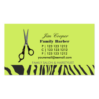 Barber Sharp Sheers Business Card Templates