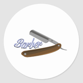 Barber Shave Classic Round Sticker