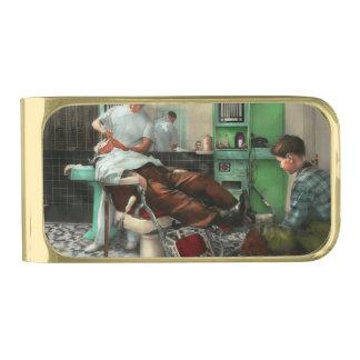 Barber - Shave - Pennepacker's barber shop 1942 Gold Finish Money Clip