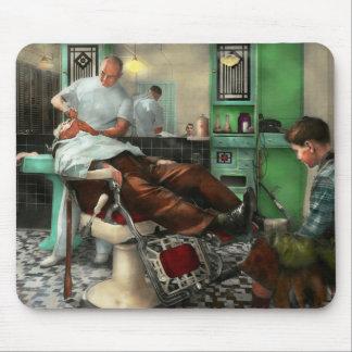 Barber - Shave - Pennepacker's barber shop 1942 Mouse Pad