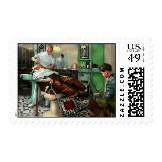 Barber - Shave - Pennepacker's barber shop 1942 Postage