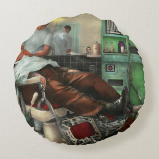 Barber - Shave - Pennepacker's barber shop 1942 Round Pillow