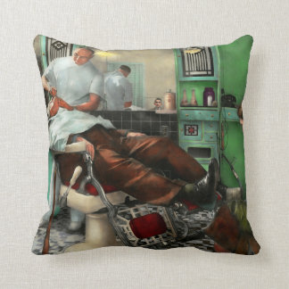Barber - Shave - Pennepacker's barber shop 1942 Throw Pillow
