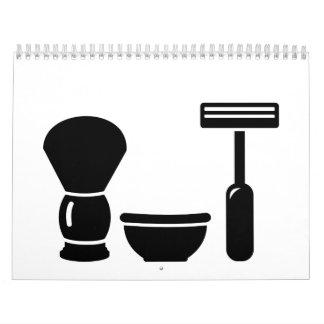 Barber shaving equipment calendar