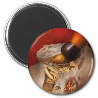 Barber - Shaving - The beauty of barbering 2 Inch Round Magnet