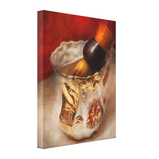 Barber - Shaving - The beauty of barbering Canvas Print