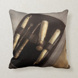 Barber - Shaving - The shaving kit Throw Pillow