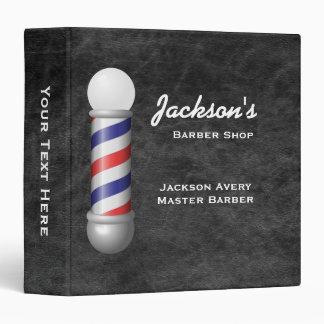Barber Shop Barber Pole Leather Binder