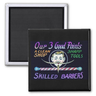 Barber Shop Barbers Advertise Your Business 2 Inch Square Magnet
