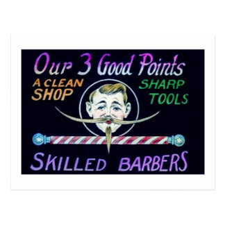 Barber Shop Barbers Advertise Your Business Postcard