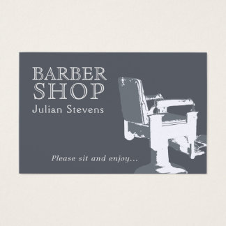 Barber shop chair image cover business card