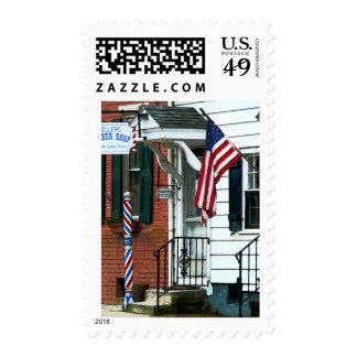Barber Shop Entrance Postage