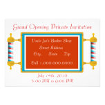 Barber Shop  Grand Opening Personalized Invitations