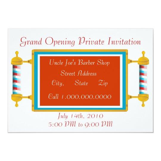 Barber shop grand opening invitation zazzle barber shop grand opening invitation stopboris Gallery