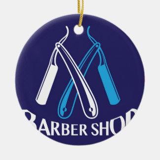 Barber Shop Logo Icon Vector Ceramic Ornament