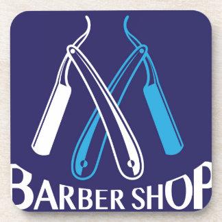 Barber Shop Logo Icon Vector Coaster