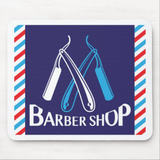 Barber Shop Logo Icon Vector Mouse Pad