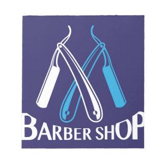 Barber Shop Logo Icon Vector Notepad