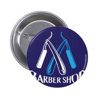 Barber Shop Logo Icon Vector Pinback Button
