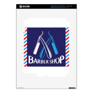 Barber Shop Logo Icon Vector Skins For iPad 3