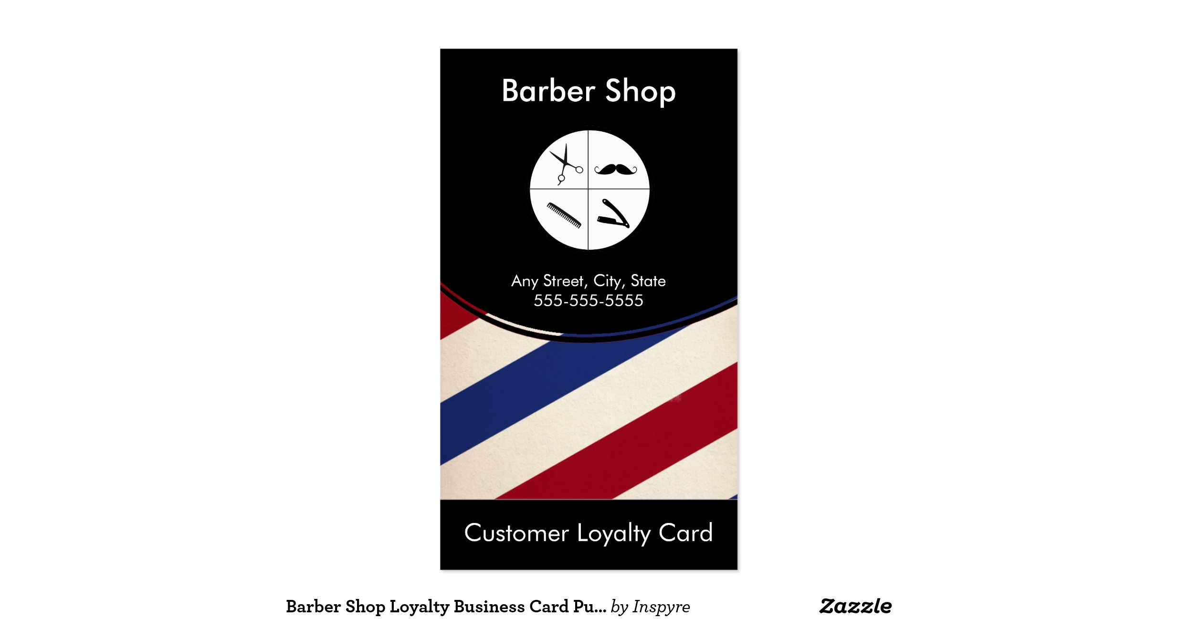 Barbershoployaltybusinesscardpunchcard