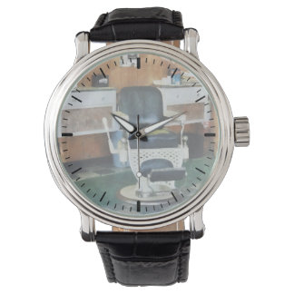 Barber Shop One Chair Wrist Watch