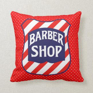 Barber Shop Throw Pillows