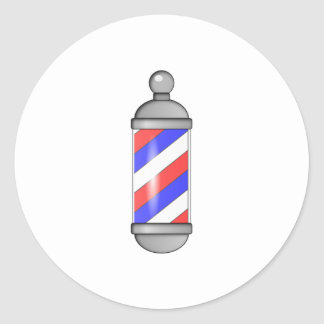 Barber Shop Pole Classic Round Sticker