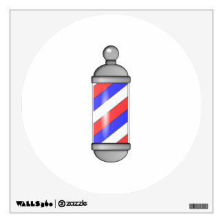 Barber Shop Pole Wall Decal