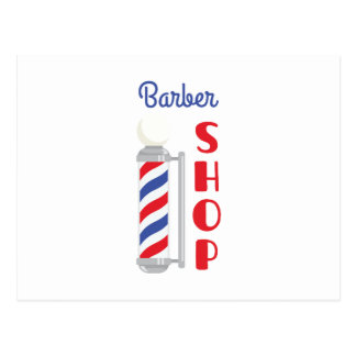 Barber Shop Postcard